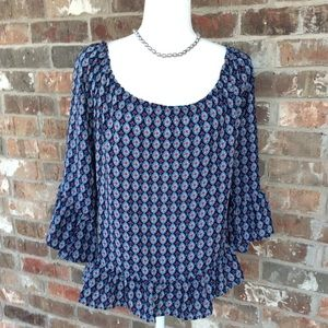 Peasant Style Top by C NWT